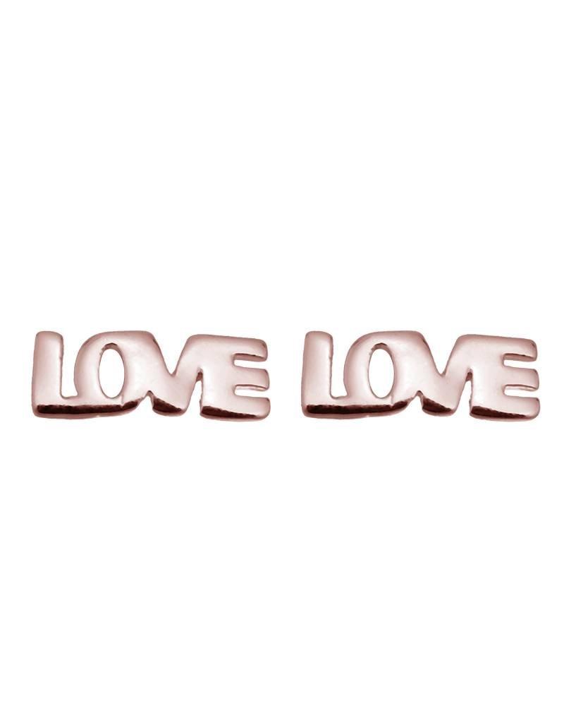 Oorbellen love rosé