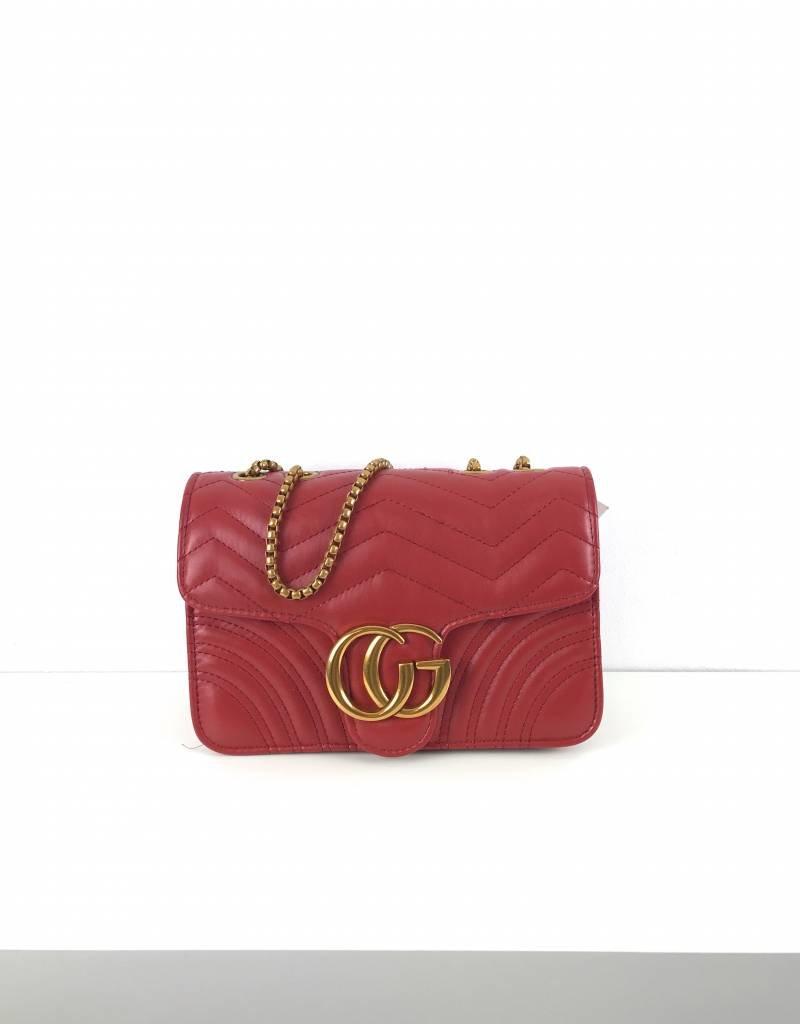 Red logo bag