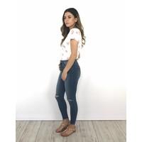 Jeans skinnyback thigh rip