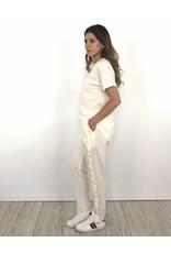 Pantalon White Ruffel