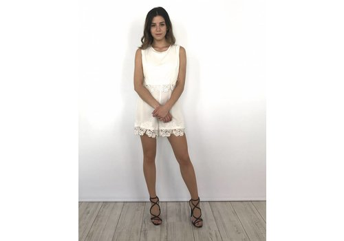 Playsuit white lace
