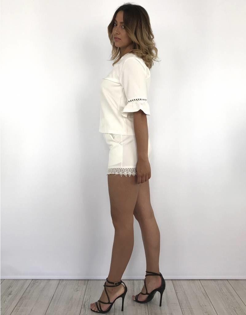 White short lace 5911