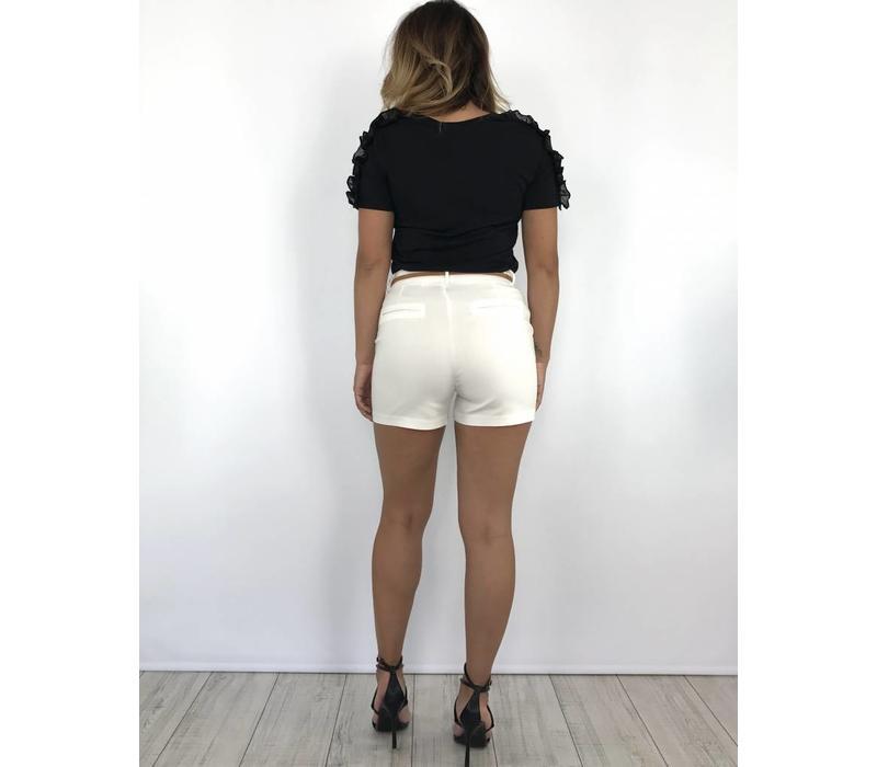 White short belt