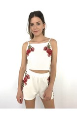Top white red flowers