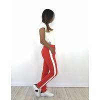 Orange pantalon white stripe 1899