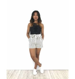 White short black stripes