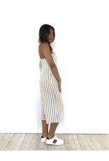 Playsuit white culotte stripes