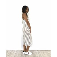 Playsuit white culotte stripes