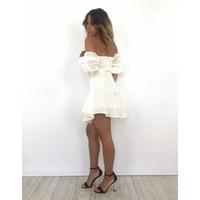 Ecru dress off shoulder