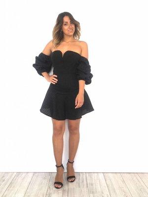 Showny Black dress off shoulder