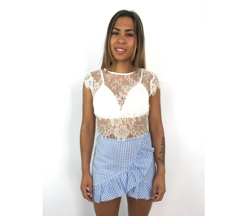 White crop top lace W1397