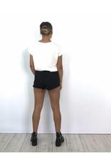 Black summer jeans short 30020