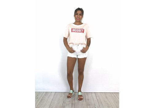 White summer jeans short