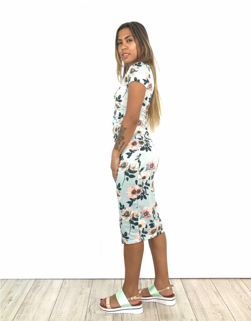Flower sky dress H39-4