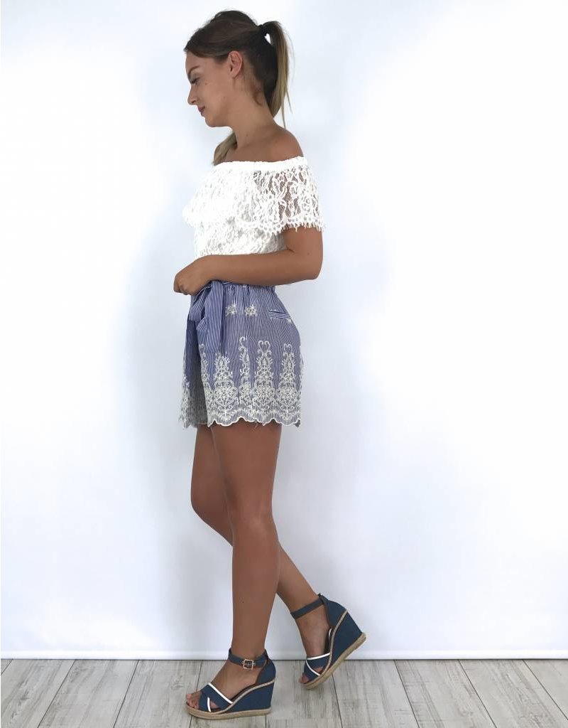 Blue summer skirt 776