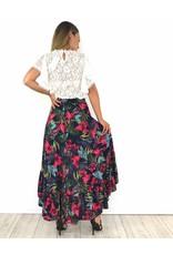 Italy skirt flowers