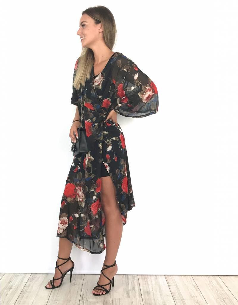 Black long festival dress 5931