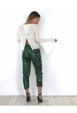 Top lace white flare