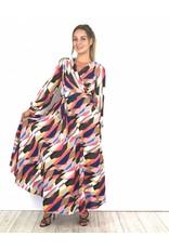 Colourful long dress