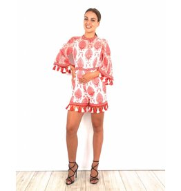 Red party playsuit