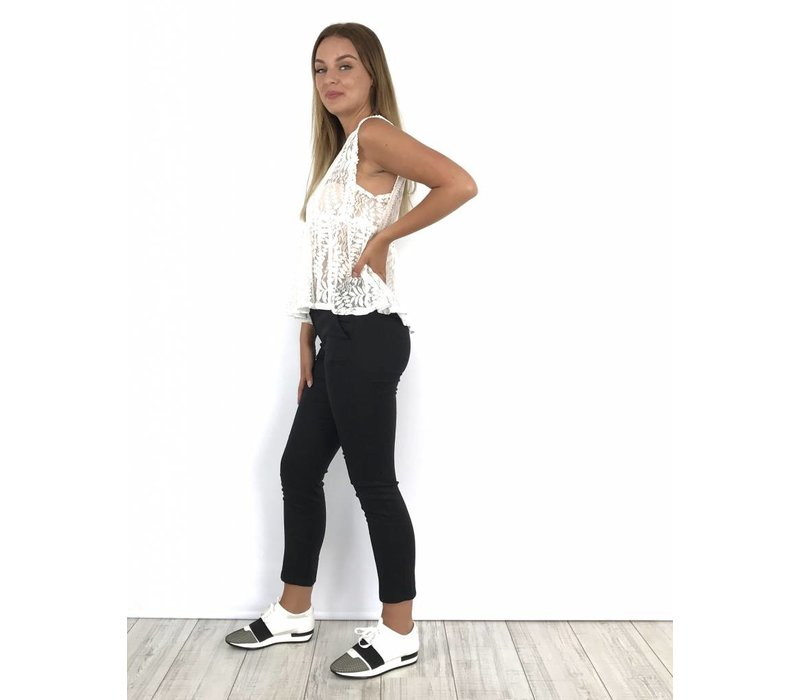 Black pants belt 1594