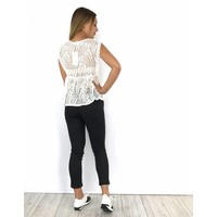 White summer lace top 21796