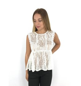 White summer lace top