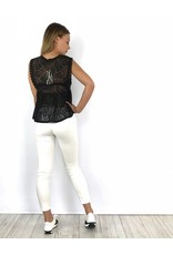 Black summer lace top 21796