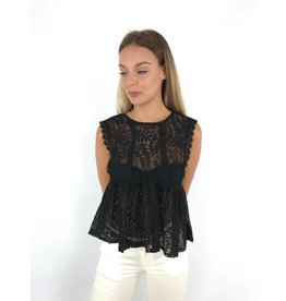Black summer lace top