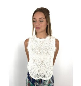 White lovely lace top
