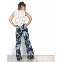 Blue leaves pants 9061