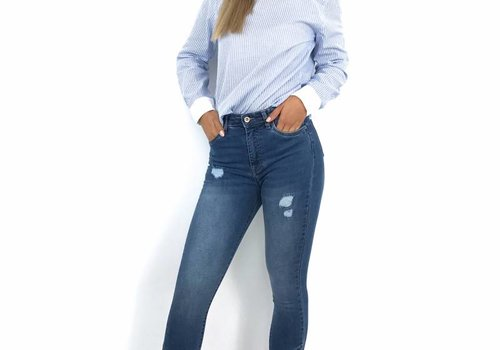 Queen Hearts Jeans skinny crop pearly detail