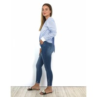 Jeans skinny crop pearly detail 9228