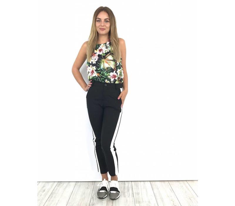 Black pants one stripe 311