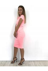 Rose pale long dress H39-1