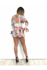 Summer playsuit rouge F509-1