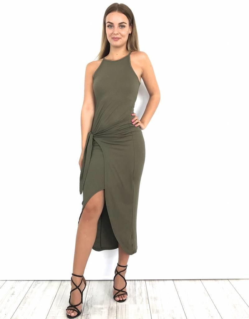 Long green dress