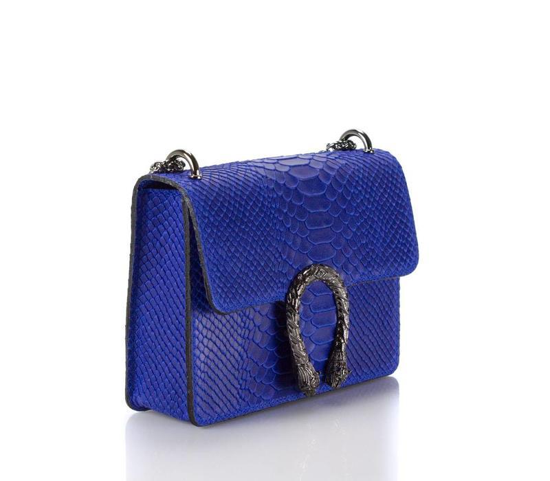 Blue snake print  bag 21x16
