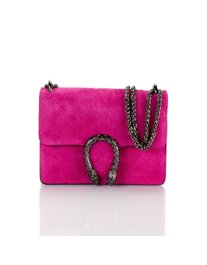 Pink Suede bag  21X16