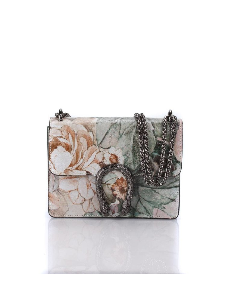 Flowers leather bag 21 X 16