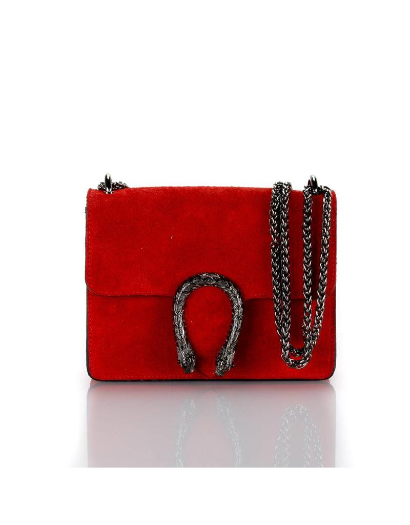 Red leather bag 21 X 16