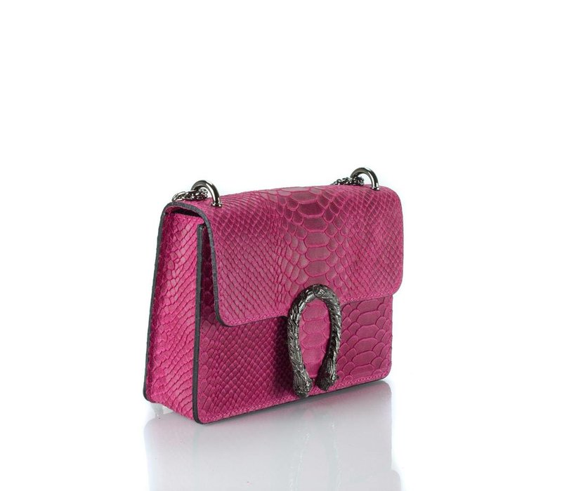 Pink snake print bag