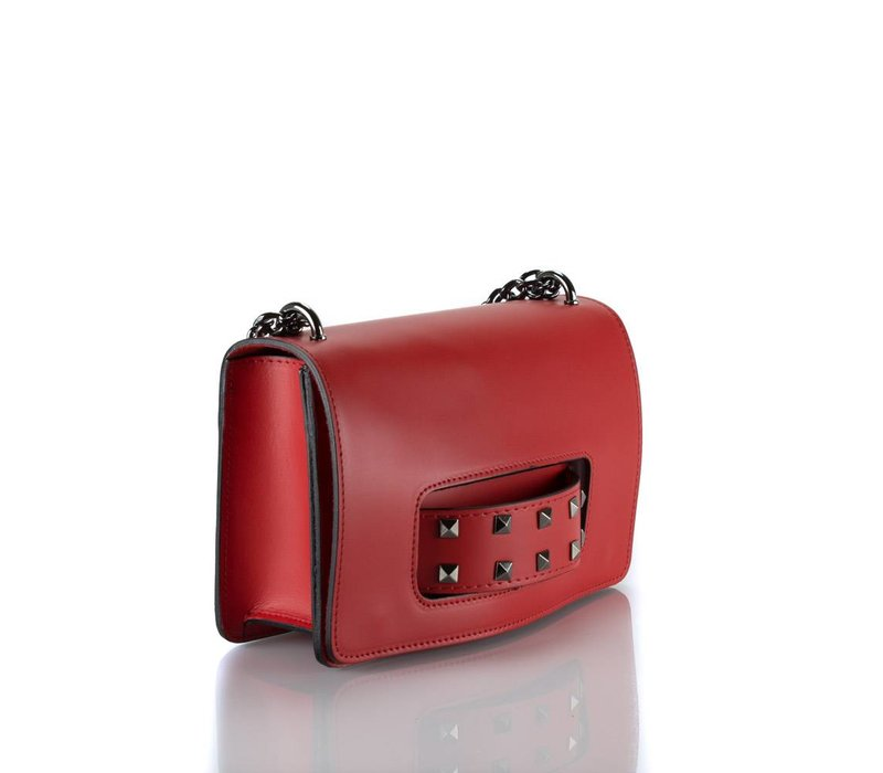 D-bag leather red