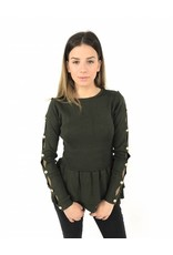 Cute green sweater 6068