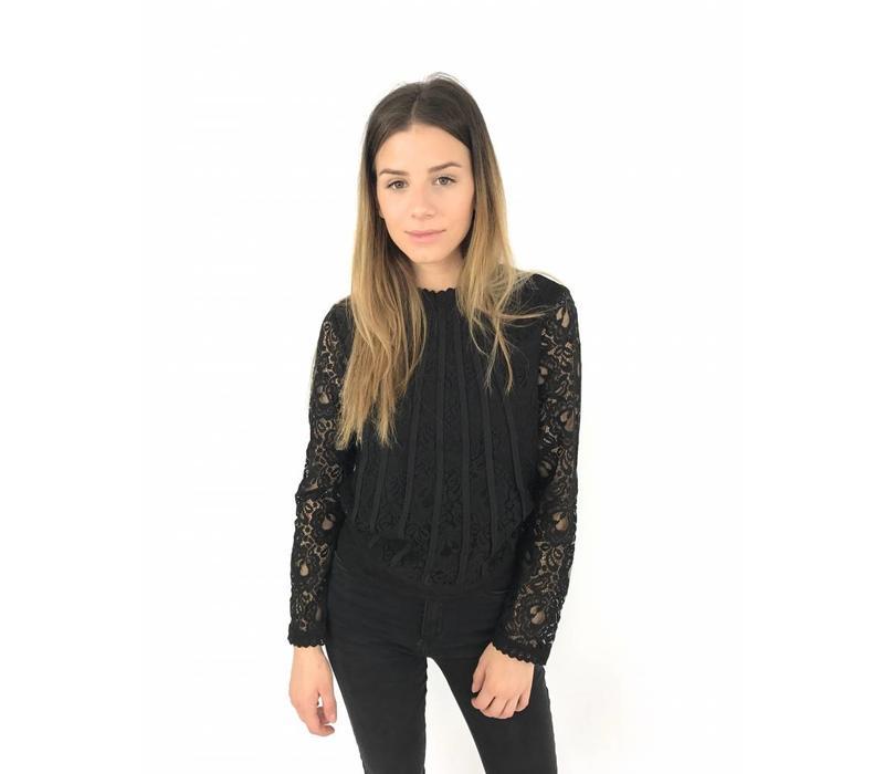 Black classy lace top 1552