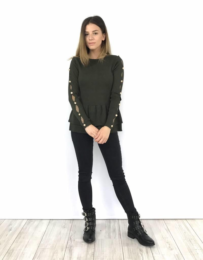 Dark grey skinny jean high waist 6443