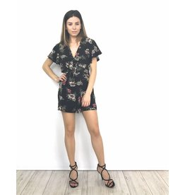 Summer playsuit red flowers