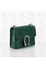 Dark green suede bag