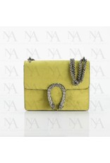 Yellow suede bag