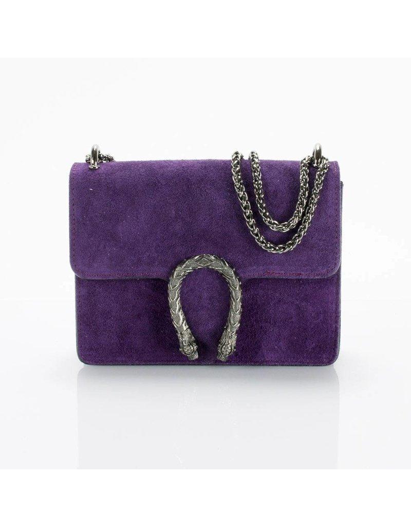 Purple suede bag